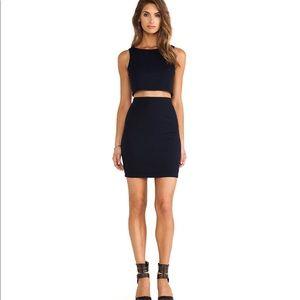 Bailey 44 Black & Nude Mesh MiddleLinebacker Dress